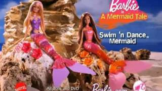 2010 Barbie In A Mermaid Tale Swim 'N Dance Mermaid Barbie Dolls Commercial