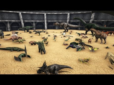 FREE FOR ALL - ARK Battle with all Creatures    Cantex