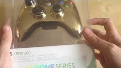 Unboxing Xbox 360 Gold Chrome Controller (UK)