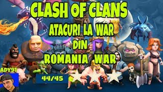 CLASH OF CLANS |Atacuri la WAR din clanul ROMANIA WAR |CLASH OF CLANS ROMANIA