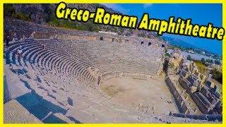Greco-Roman Amphitheatre, Myra, Turkey Review 2018. Demre, Turkey-Ancient Myra