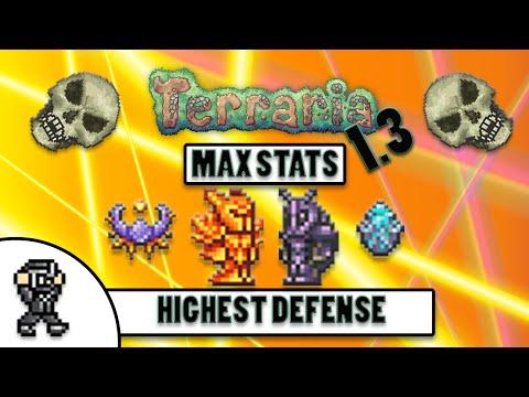 Terraria 1.3 - Highest Defense Loadout - Highest Damage Reduction - Max Stats