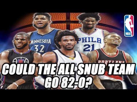 Could The All NBA SNUB Team go 82-0?