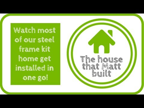 Installing our steel kit home frame