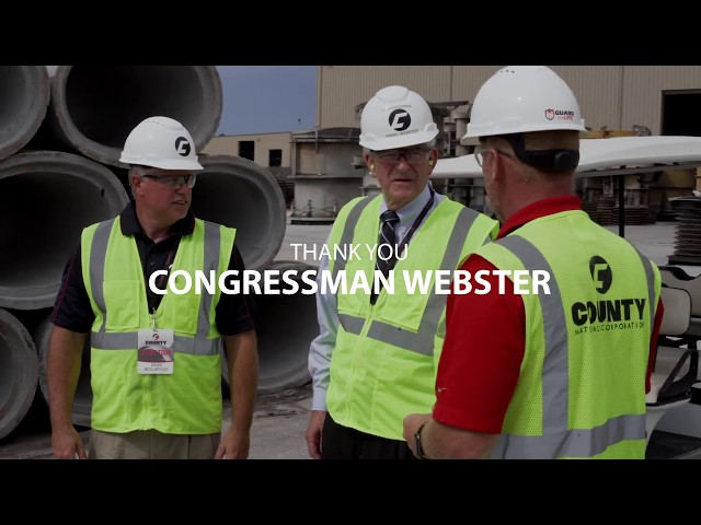 Florida Pipe Plant Tour: Congressman Webster