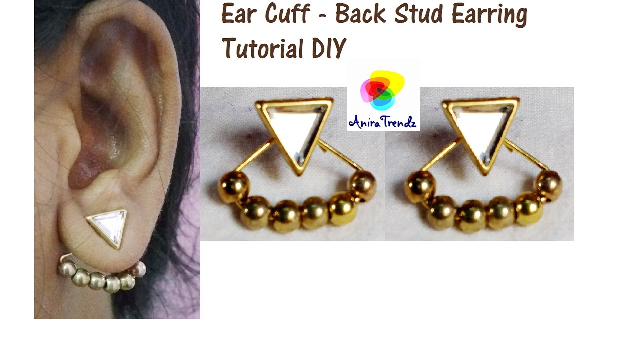 DIY Button Chic: Stud Earrings Tutorial new photo