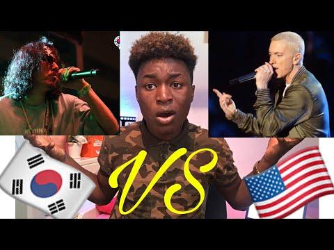 K-RAP Vs USA RAP ( Tiger JK , Eminem , Bizzy , 2 Pac )