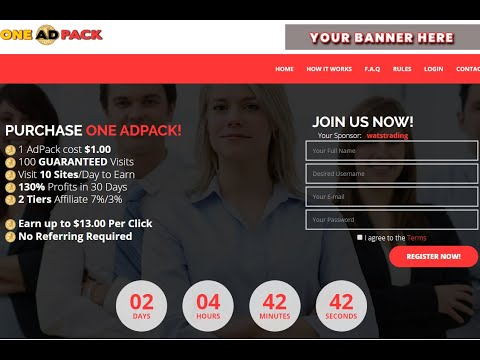 ПРЕД СТАРТ!  ONE ADPACK Рекламная Платформа ,1 AdPack стоит $ 1,00