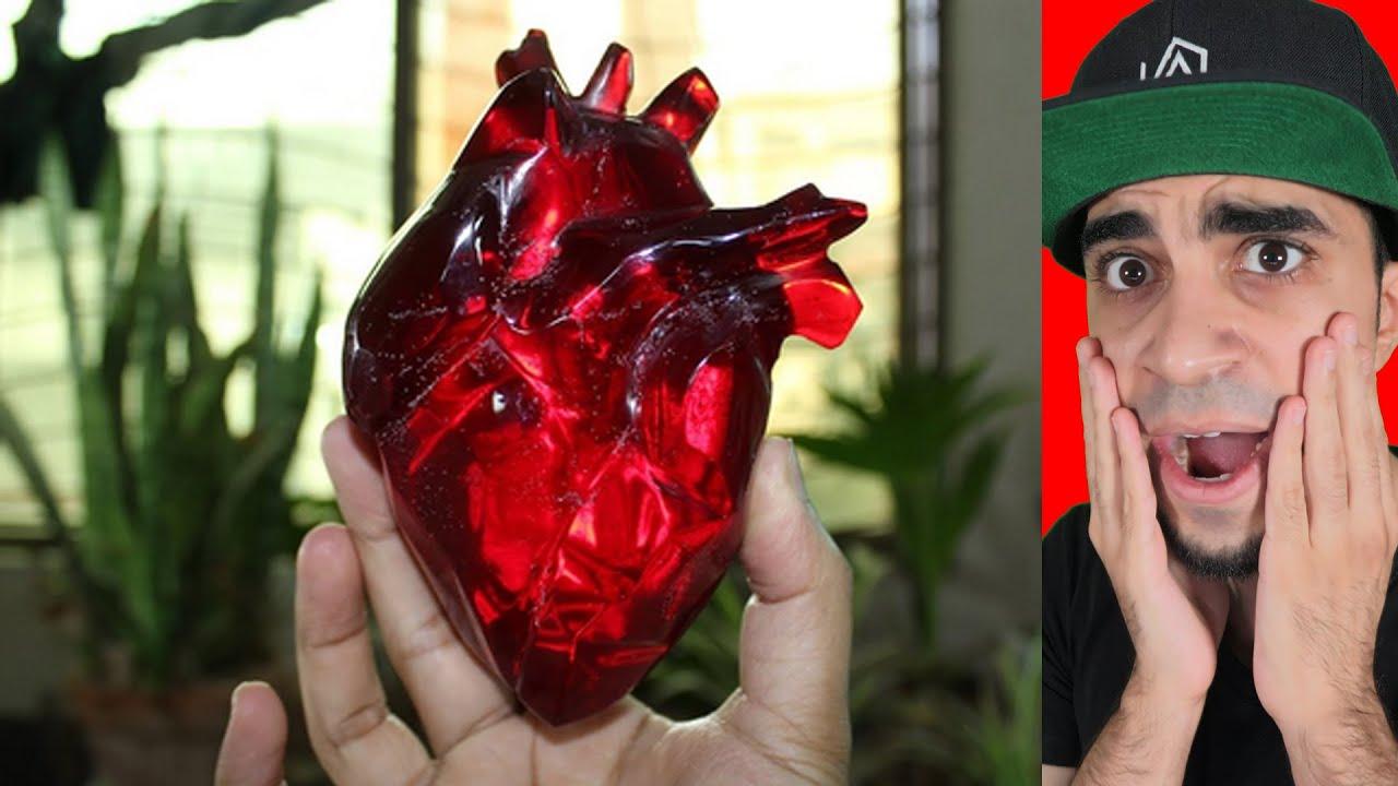 شخص يجرب يصنع قلب !!