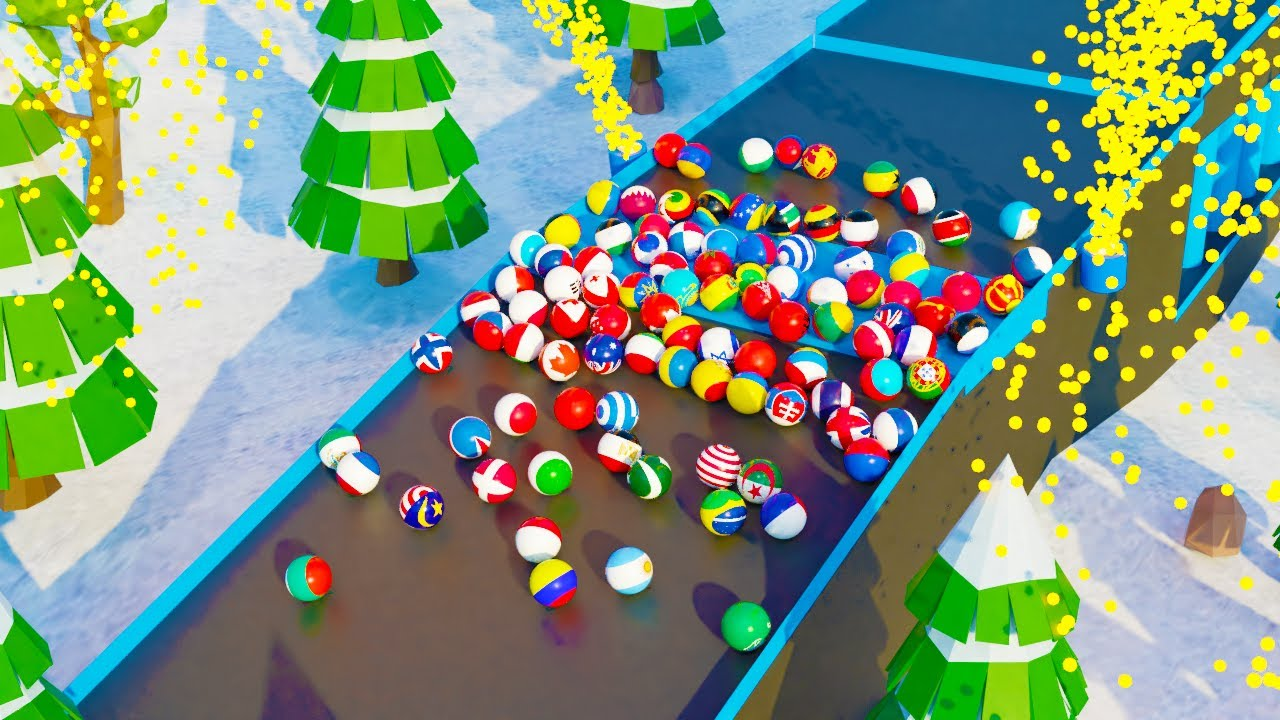 Marble Race Winter World Cup 2020 - 100 Countries Marble Race Tournament