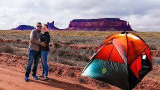 THE FIRST CAMPING ADVENTURE! || Monument Valley, Moab & Arches National Park Camping & Travel Vlog!
