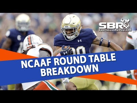 College Football Betting | Free Picks + Notre Dame vs Miami Preview | SBR Round Table