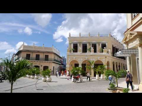 Walking in the city center of Camagüey Cuba