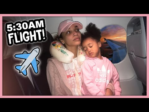 First Time FLYING with my Toddler! | MOM VLOG