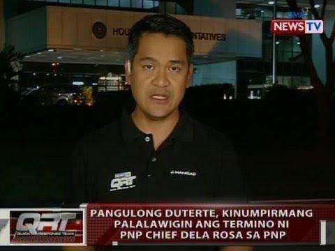 QRT: Pres. Duterte, kinumpirmang palalawigin ang termino ni PNP Chief Dela Rosa sa PNP