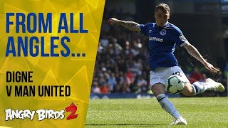 WHAT A HIT! | LUCAS DIGNE V MAN UNITED: FROM ALL ANGLES