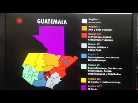 Mapa Regiones De Guatemala Animación