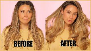 How I get my bouncy voluminous hair!