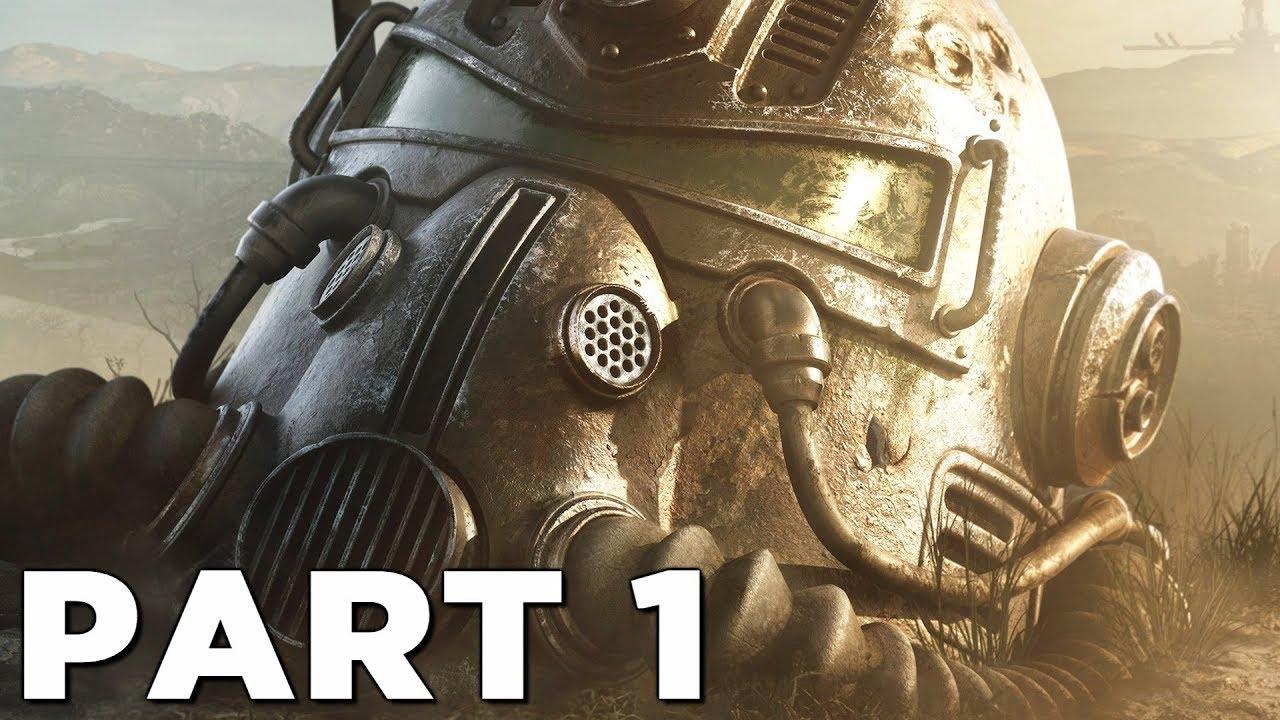 Fallout 76 Walkthrough Gameplay Part 1 Intro Ps4 Pro