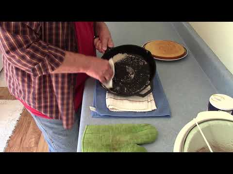 How To Clean And Season A Cast Iron Skillet After Cooking Cornbread