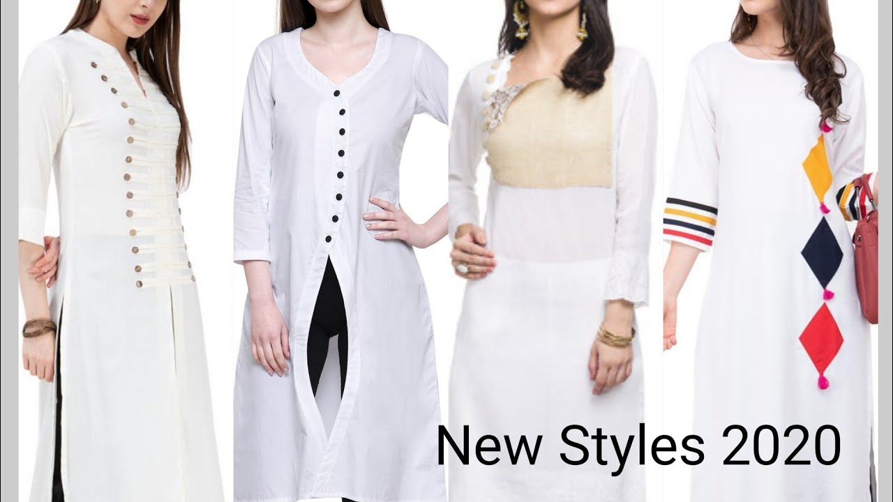 New White Color Stylish Kurti Designs 2020 | Trending White Color Kurti Designs