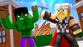 Minecraft: herÓis pvp - hulk vs thor!