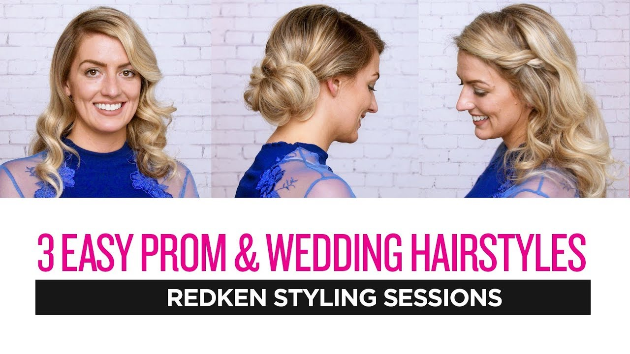 Redken Styling Sessions 3 Easy Prom And Wedding Hairstyles Youtube