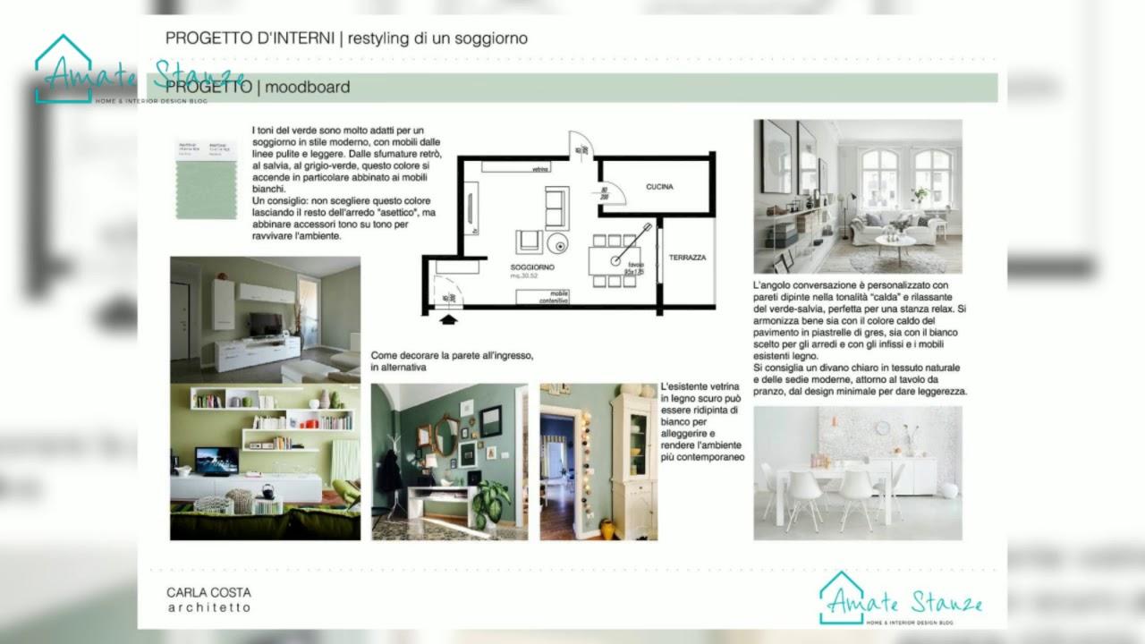 Progetto di restyling di un soggiorno moderno e retrò
