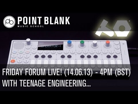 Friday Forum Live! with Teenage Engineering (OP-1 Live Demo) - 14.06.13