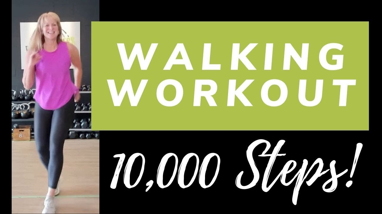 10,000 Steps Walking Workout | Walk at Home with Marion | Knee Friendly Cardio Workout
