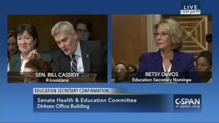 Betsy DeVos Education Secretary Nominee / Sen. Bill Cassidy