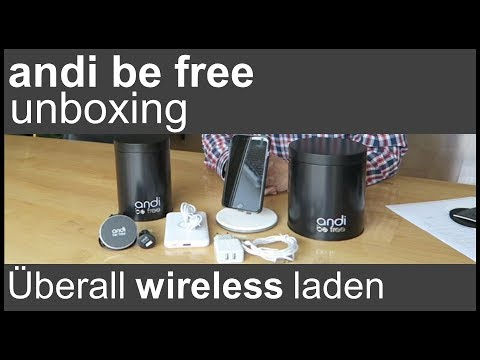 "UNBOXING ""andi Be Free"" (iPhone Wireless Laden)"
