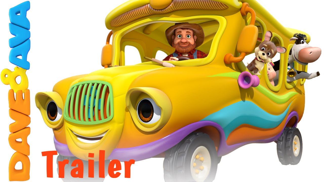 Wheels On The Bus Trailer Animal Sounds Song Nursery