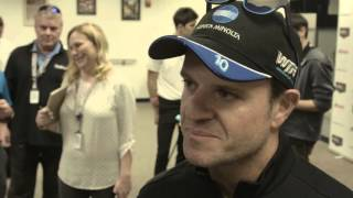 Rubens Barrichello and Katherine Legge at the Rolex 24