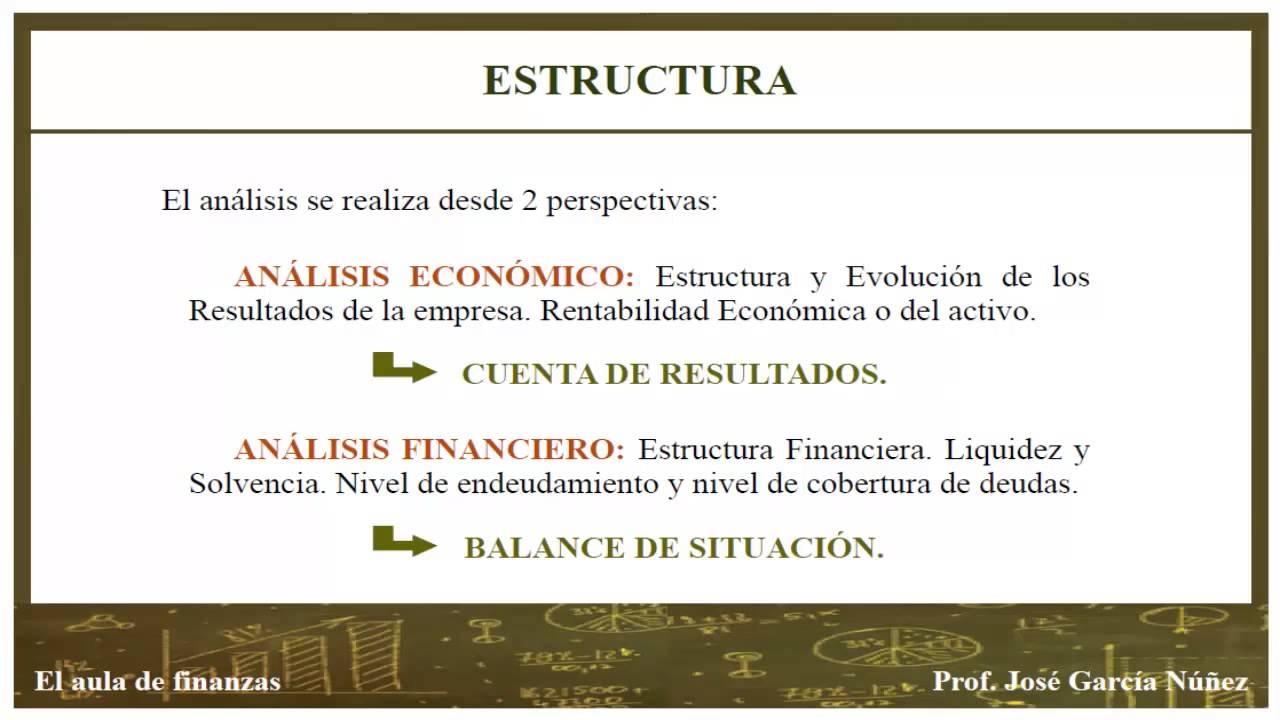 Análisis De La Situación Económico Financiera De La Empresa I