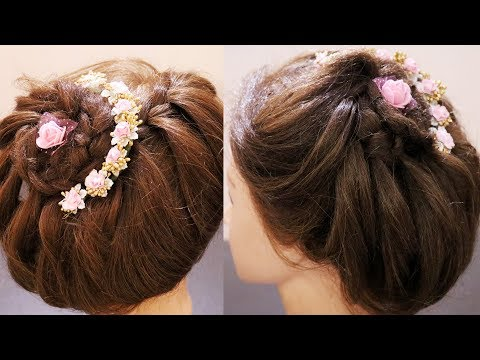 Trendy Party Hairstyle For Saree | Hairstyle For Round Face Ladies | Integrators