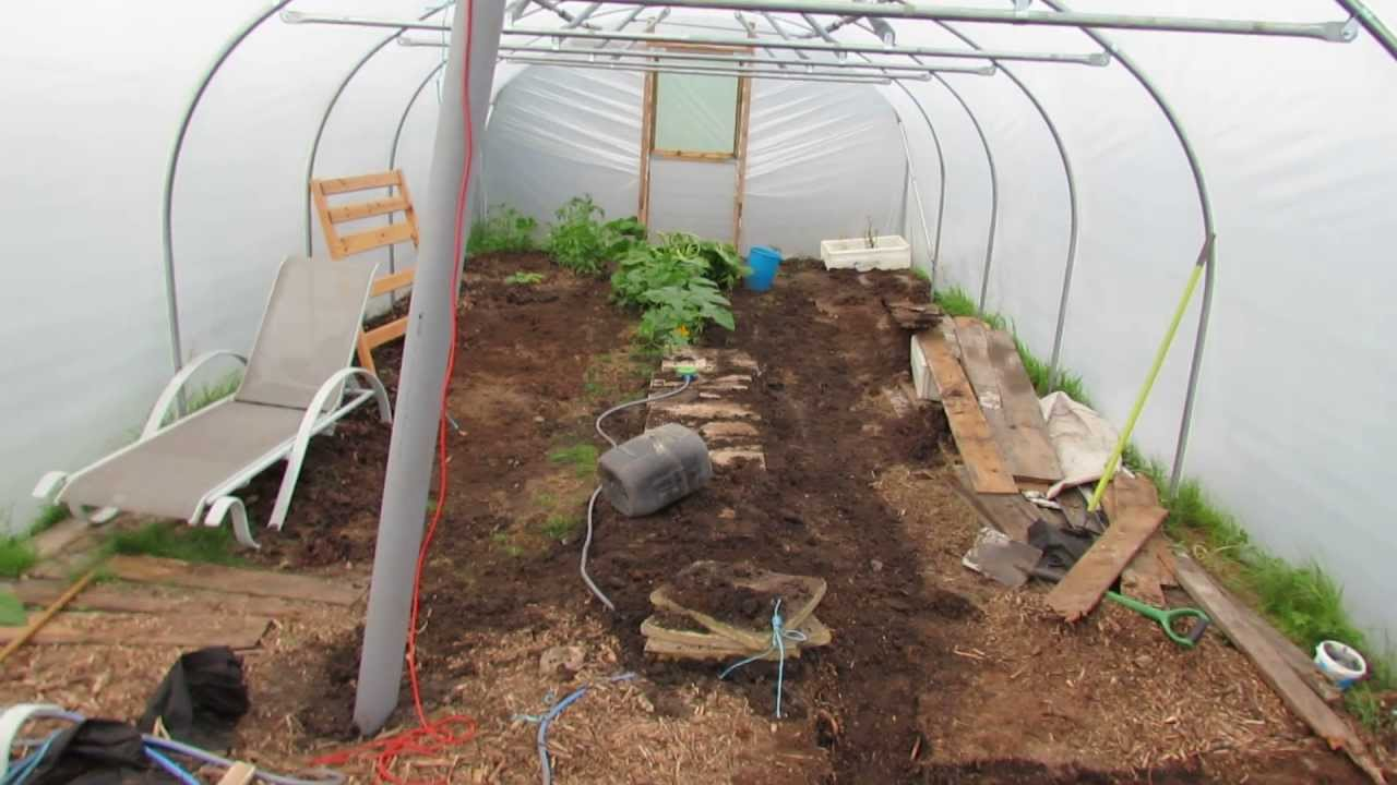 update on polytunnel heat sink thermal store