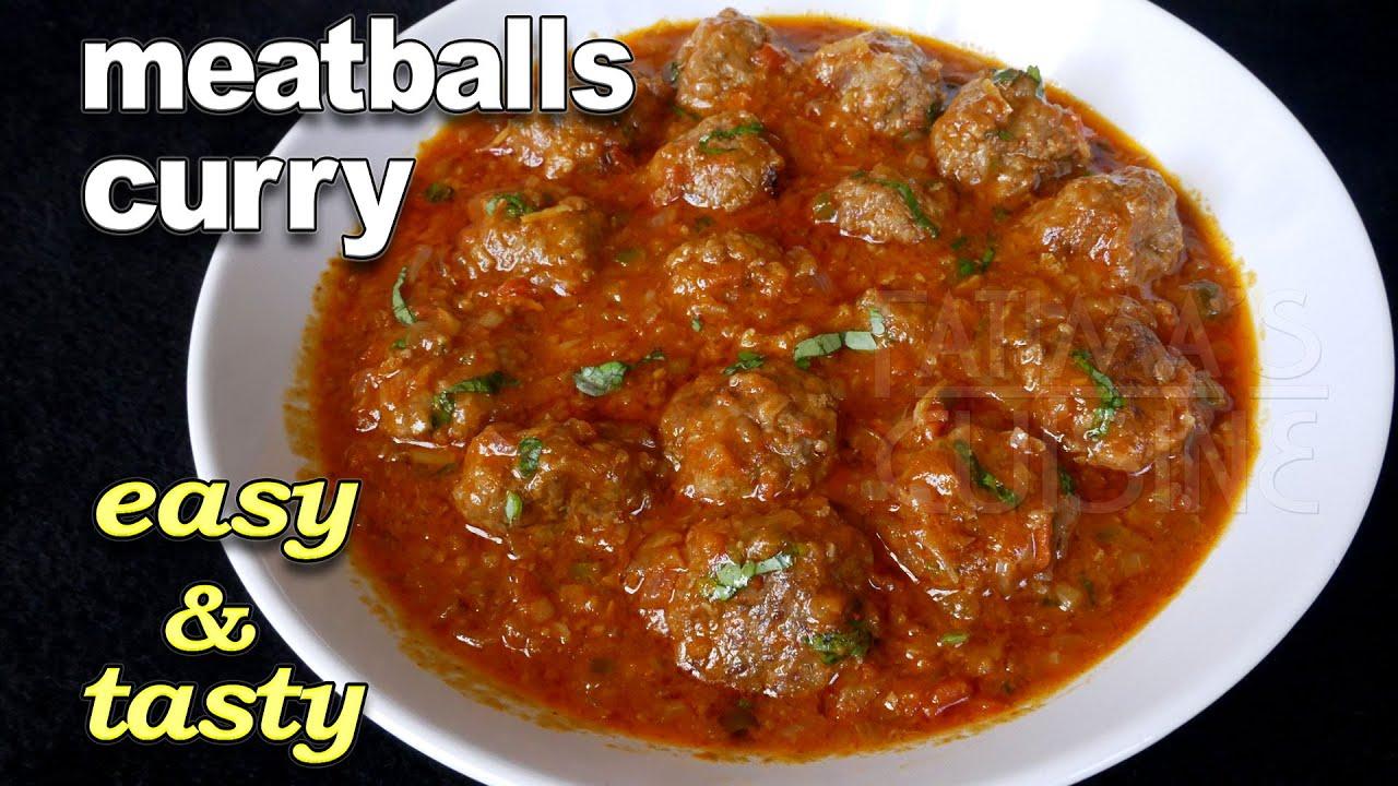 Meatballs Curry Recipe | Kheema Balls Curry | Minced Meat Recipe