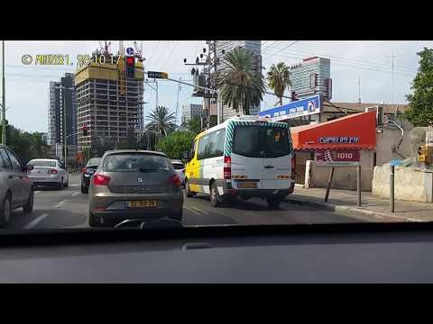 DRIVE FROM PETAH TIKVA TO TEL AVIV נסיעה מפתח תקווה לתל אביב 28.10.17