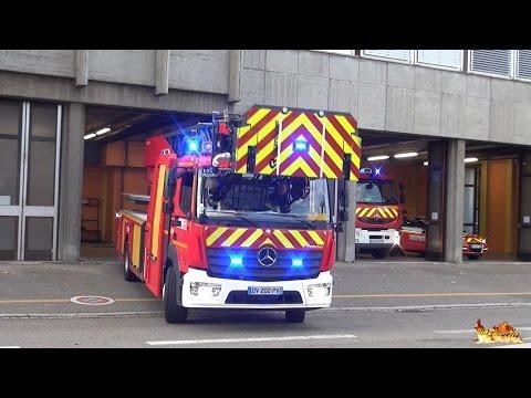 [Nouvelle �chelle EPA 30 Rosenbauer] D�part Incendie Sapeurs Pompiers Mulhouse + compilation