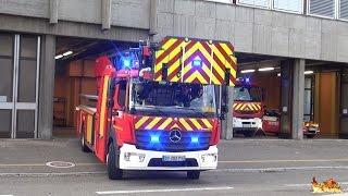 [Nouvelle Échelle EPA 30 Rosenbauer] Départ Incendie Sapeurs Pompiers Mulhouse + compilation