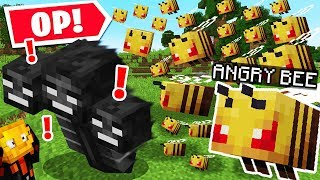 SO MINECRAFT BEE ARMIES ARE OVERPOWERED..