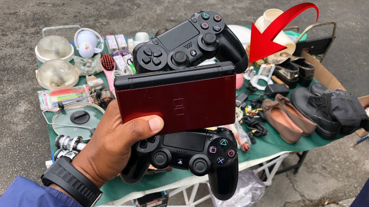 CAÇADA GAMER APARECEU CONTROLE DE PS4 , NINTENDO DS E SUPER NINTENDO NA FEIRA DO ROLO
