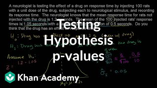 Hypothesis testing and p-values | Inferential statistics | Probability and Statistics | Khan Academy thumbnail
