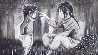 Drawing Itachi And Sasuke   Speed Drawing