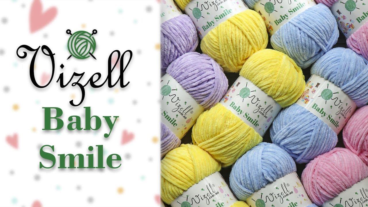 Обзор Vizell Baby Smile (Визель Беби Смайл) 😊 НОВИНКА плюшевой пряжи