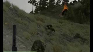 ArmA 2 - gameplay 02 - Custom Mission (pc)