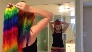 ОКРАСКА ВОЛОС В РАДУЖНЫЕ ЦВЕТА+НАКЛАДНЫЕ ПРЯДИ(http://prinhouse.ru/ Автор видио Oficial Rainbow Girl В видео использованы натуральные волосы блонд http://prinhouse.ru/volosy-na-zakolkah-natural..., 2015-08-02T15:57:16.000Z)