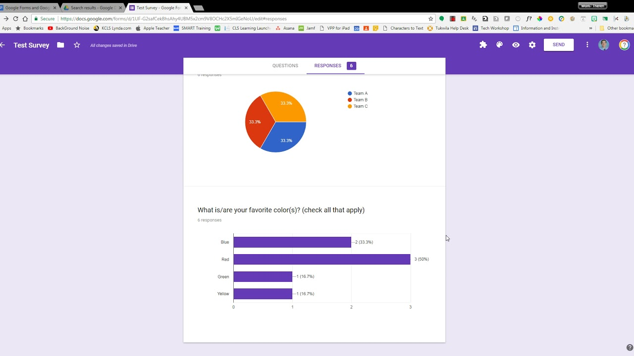 Nice Google Forms   Reviewing Data Collected