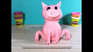How to make Piggie as a frog. Granny B. made him with Play-Doh.